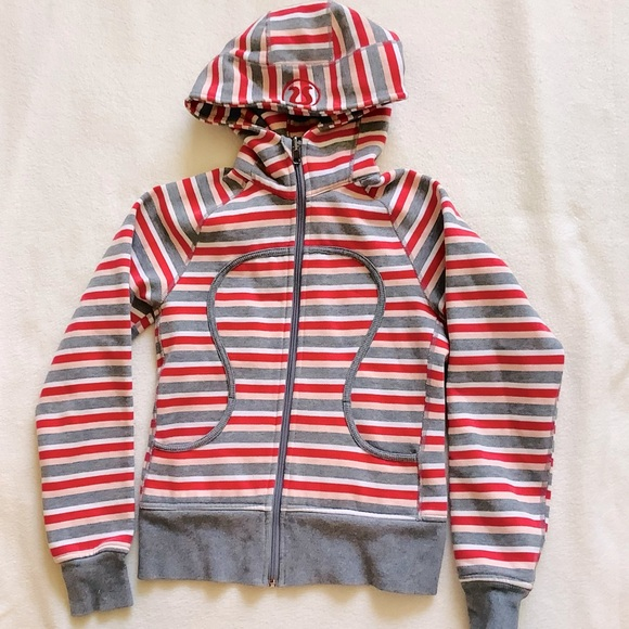 Limited Edition Striped Scuba Hoodie Size 6